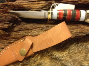 9101507 Marbles MR816 Hunting Knife. Stainless Steel Blade with Stag/Synthetic Handle. Leather Sheath. Overall Length: 8